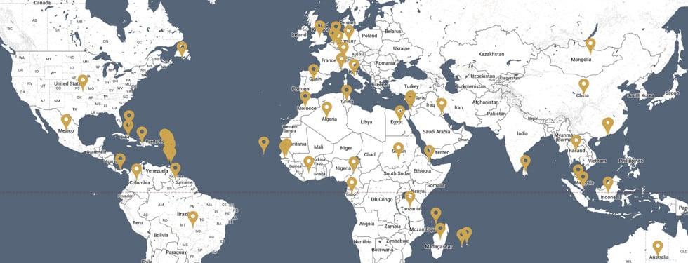 Les tournées dans le monde depuis 1971 !