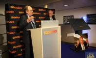 Inauguration de la tribune de presse Thierry Roland