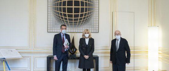 Le VCF reçu par Brigitte Macron